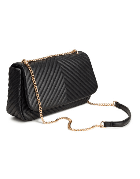 Black Quilted Chain Bag Heart Of Style
