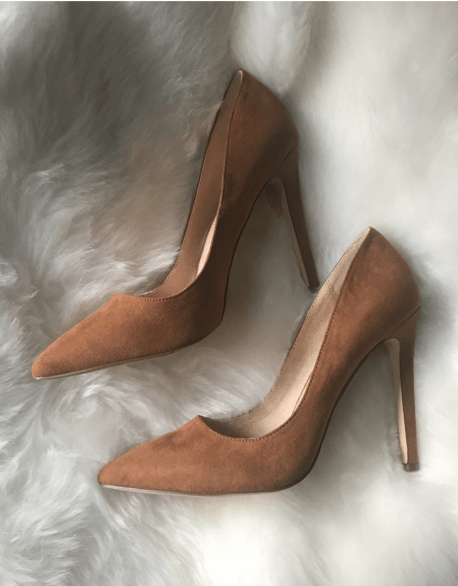Tan Suede Pumps | Heart Of Style
